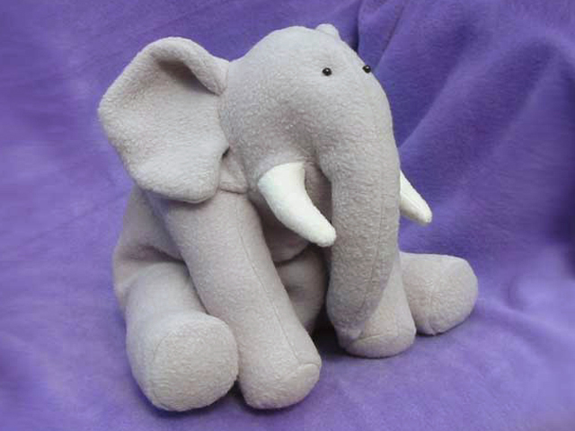 Elephant Stuffed Toy : Simplicity pattern company licensed toy patterns funky