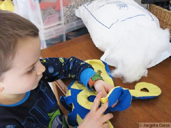 octopus stuffing toy photo