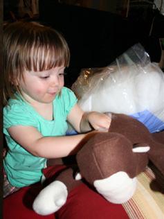 stuffing toy monkey