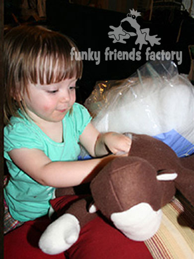 stuffing a soft toy