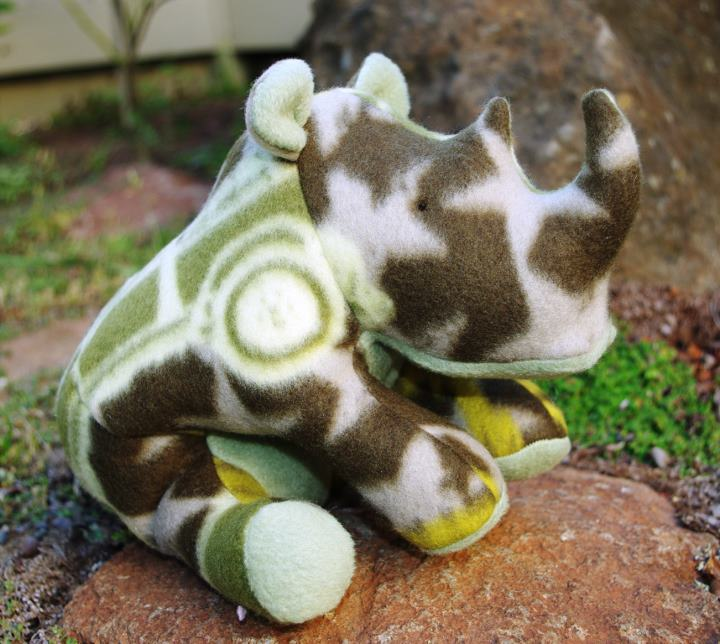 Rhino stuffed toy sewing pattern