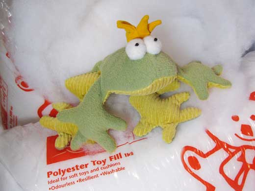 Polyester toy filling web