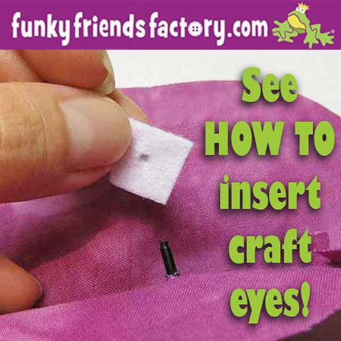 how to insert craft eyes