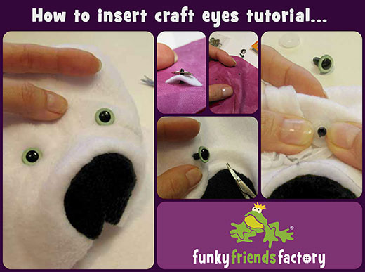 How to insert craft eyes photo tutorial