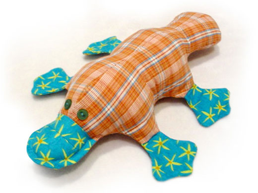 PLATYPUS QUILT FABRIC TOY