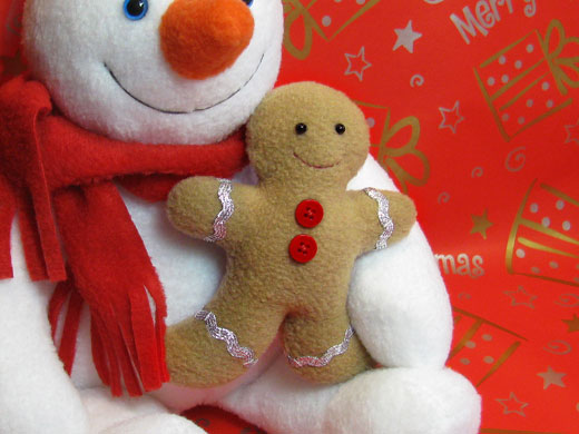 Gingerbread man softie pattern