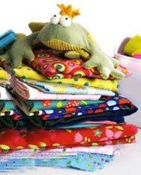frog on fabric
