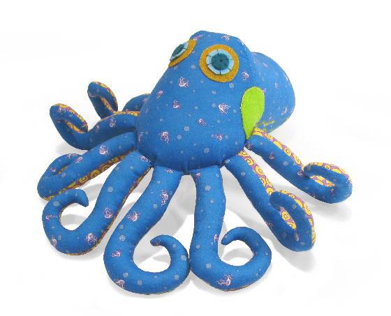 octopus soft toy sewing pattern light