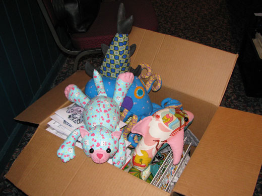 Box of Funky Friends Factory toys