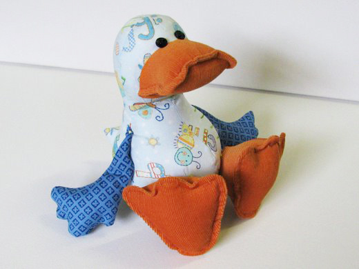 Dilby DUCK stuffed toy sewing pattern gets a make over! | Funky ...