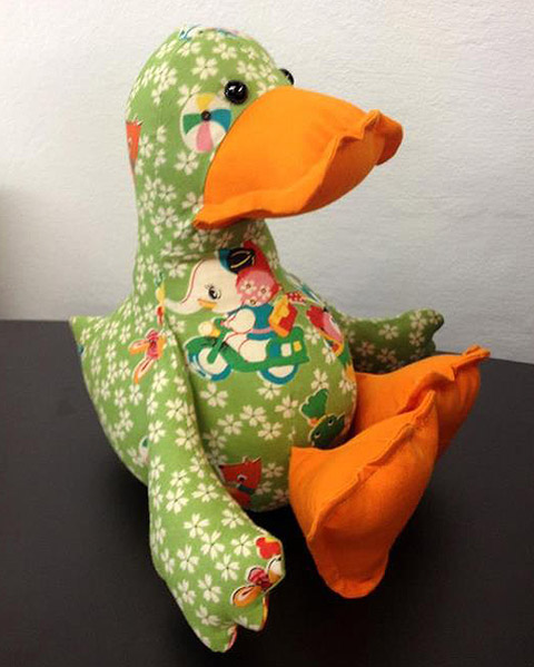 Dilby Duck Stuffed Toy Sewing Pattern Gets A Make Over Funky
