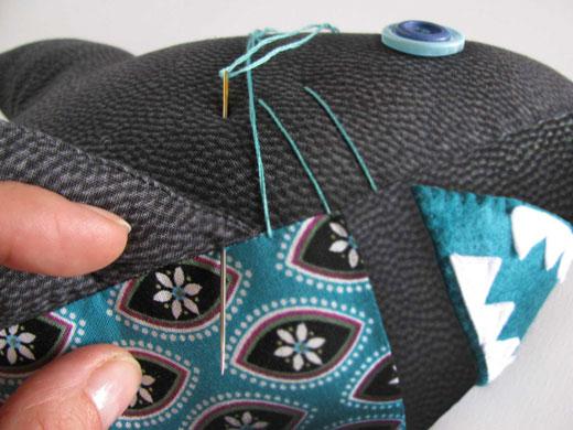 Felt Acrylic shark toy sewing pattern
