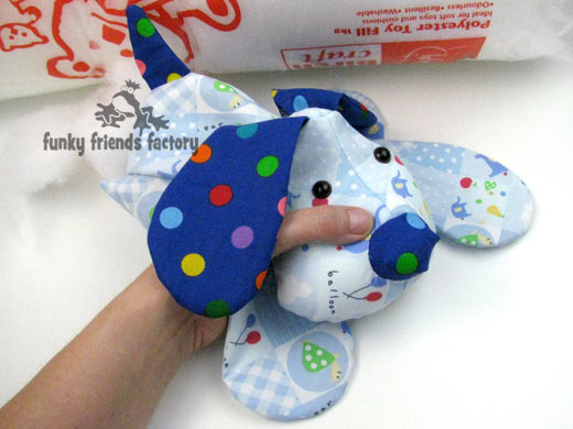 How to sew a sweet puppy dog photo tutorial | Funky Friends Factory