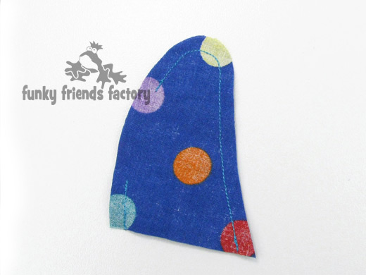 Dog toy sewing pattern tail