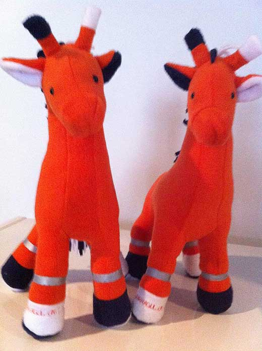 Giraffe Toy Sewing Pattern Shirley web