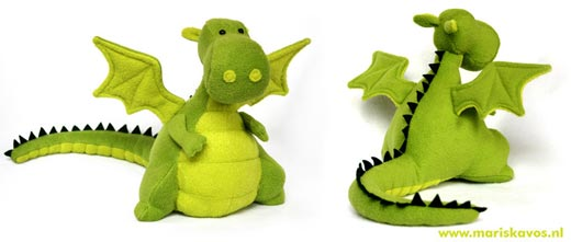Yoki Dragon Pattern - DIY Fluffies