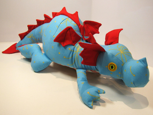 Diggles The Dragon Toy Sewing Pattern Is Done Funky