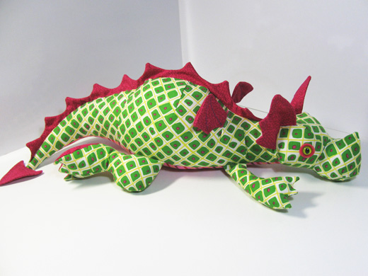 Diggles the Dragon toy sewing pattern is done!!! | Funky Friends Factory