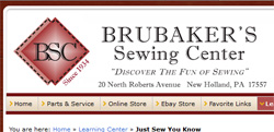 Sewing Machine service - Brubakers
