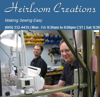 Sewing machine service - Heirloom creations