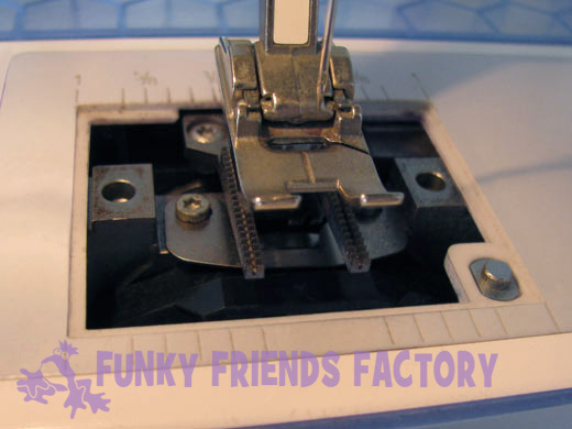 remove needle plate - clean sewing machine