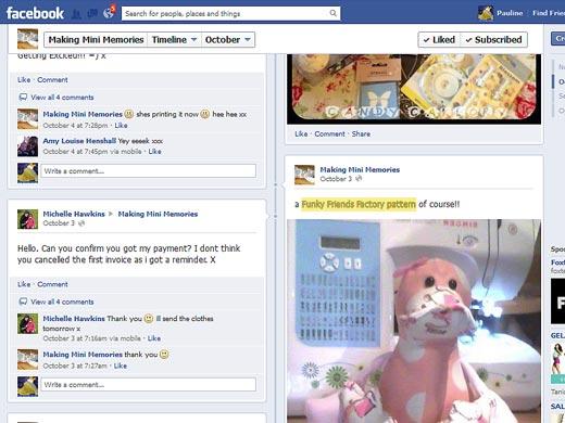 Facebook post - pattern credit