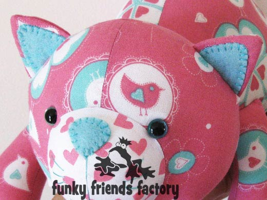Kitty Cat Softie toy sewing pattern