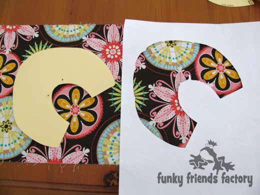 fussy cutting - pattern piece template