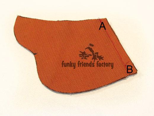Duck toy sewing pattern - photo tutorial - beak