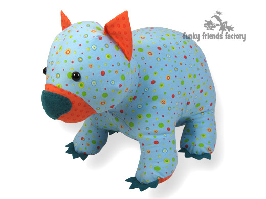 Wodger The Wombat Toy Sewing Pattern Is Here Funky Friends Factory
