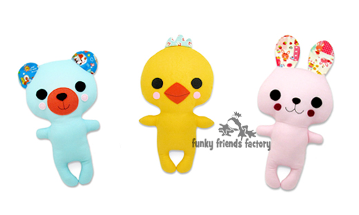 New Kawaii Animal Doll Patterns for you ! | Funky Friends Factory