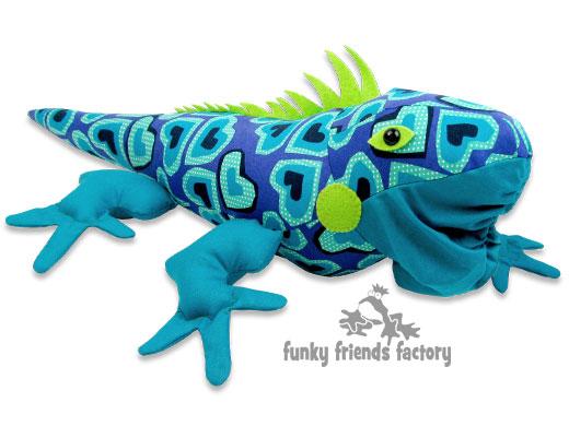 IGUANA stuffed toy sewing pattern