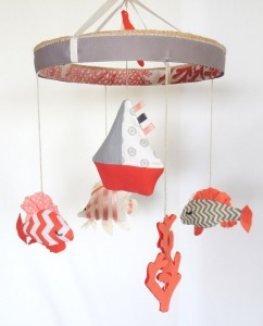 Baby Mobile-Nursery Mobile-Crib Mobile-Fish