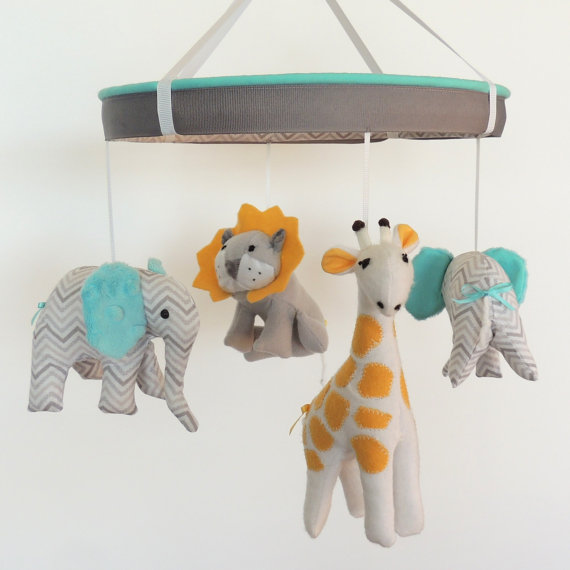 Lion Sewing pattern used for nursery mobile