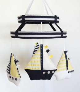 Sailboat Mobile-Nursery Mobile-Baby Mobile-Shower Gift