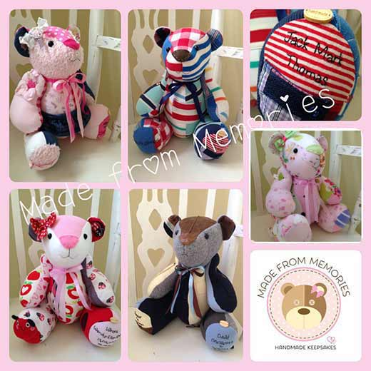 Made from Memories baby clothes keepsakes