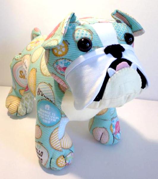 Bulldog-pattern-Pauline McArthur made by Korinaskreations