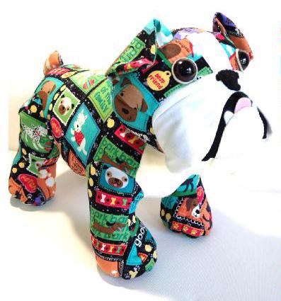 Bulldog toy pattern - Korinas Kreations