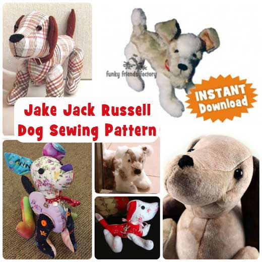 Lots of DOG sewing patterns! | Funky Friends Factory