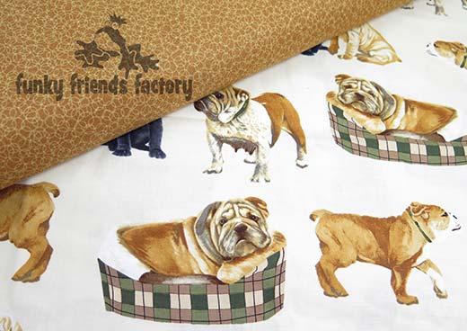 REAL bulldog fabric