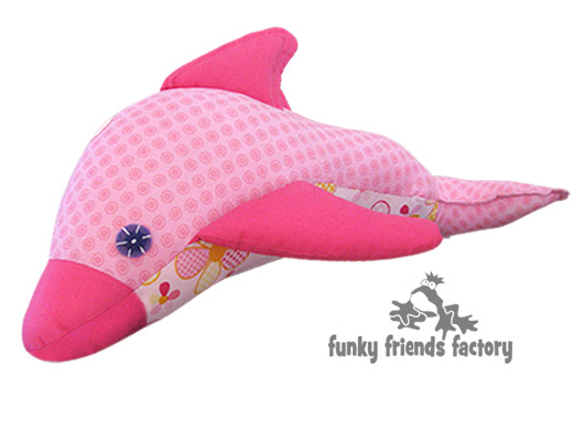 dolphin toy sewing patternpink