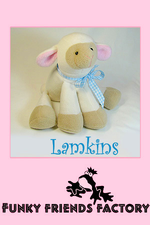 Lamkins lamb pattern Pauline McArthur Funky Friends Factory