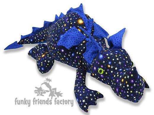 Dragon Glow in the dark fabric