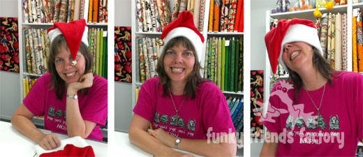 Free Christmas hats pattern - fleece
