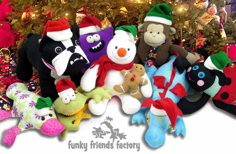 Funky Friends Factory free Christmas hats sewing pattern