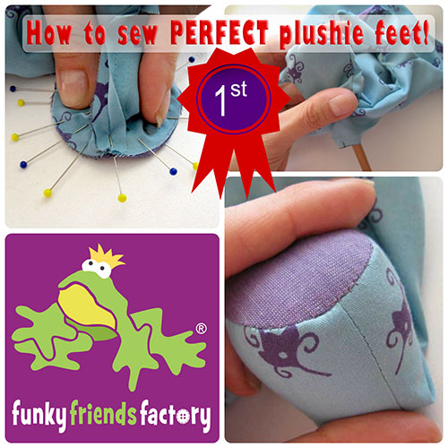 How to sew perfect plushie feet!