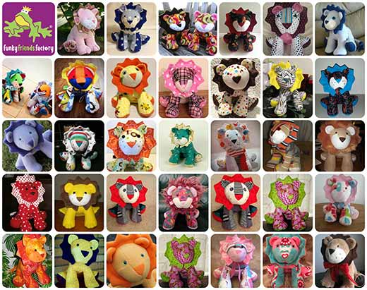 Larry LION Sewing Pattern photo tutorial. | Funky Friends Factory