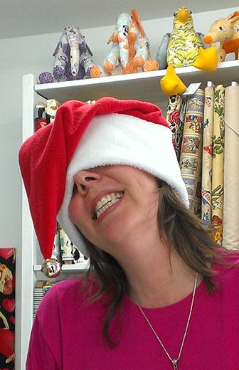Pauline McArthur Christmas hat
