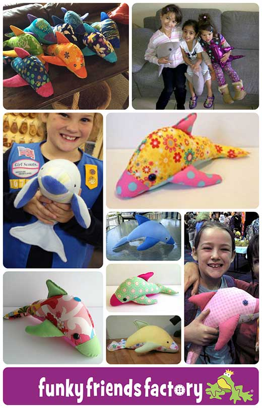 DOLPHIN toy pattern collage web