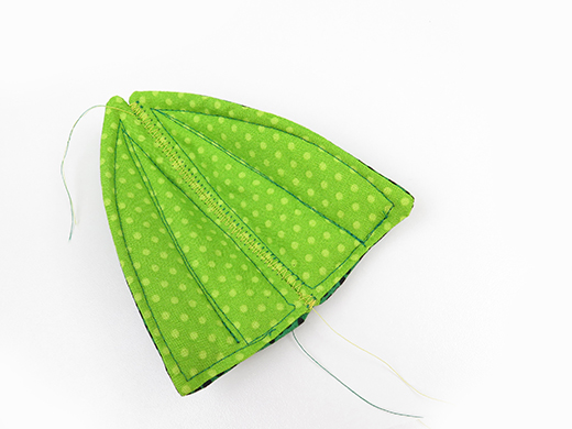 sew 2 inner leaves together